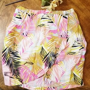 H & M tropical print wrap skirt Size 6
